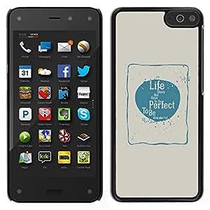 Caucho caso de Shell duro de la cubierta de accesorios de protección BY RAYDREAMMM - Amazon Fire Phone - Perfecto Amor Felicidad Vida Azul Beige Póster