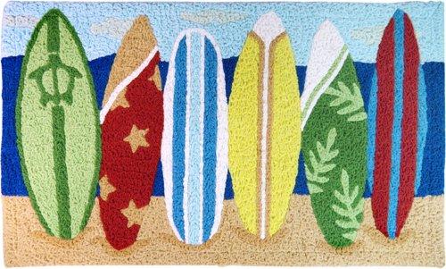 Surfboards Island Style Rug 30'' X 18'' by KC Hawaii