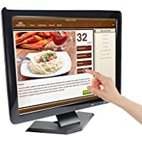 TOGUARD 15 Inch Touchscreen TFT LED Monitor 4:3 Security Surveillance Monitor Ultra-Thin 1024*768 HD Video Monitor Display Screen With VGA/USB/HDMI Input