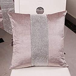 Elegant Sequined Pillow Cases With Rhinestone