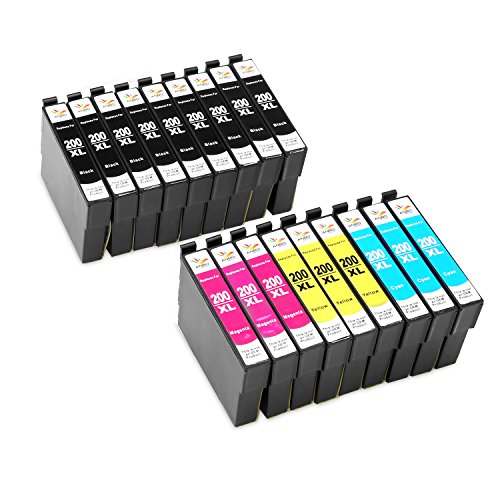 Anbo 18Pack Remanufactured Cartridge Replacement for Epson 200 XL Ink Cartridges High Yield Compatible to XP-410 XP-310 WF-2540 WF-2530 WF-2520 WF-2010F WF-2010W WF-2510WF XP-400 XP-300 XP-200 Printer