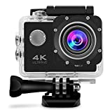 GBB WiFi Sport Action Camera 4K HD 12MP Waterproof Action Cam 2 Inch LCD Screen 170 Ultra Wide Angle 2 Rechargeable Batteries with Full Accessories Kits