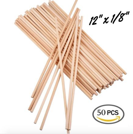 Wooden Dowel Rods 50 pcs 12