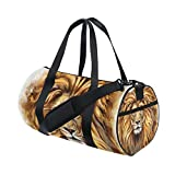 AURELIOR Kind Lion Gym Duffle Bag Drum tote Fitness Shoulder Handbag Messenger Bags