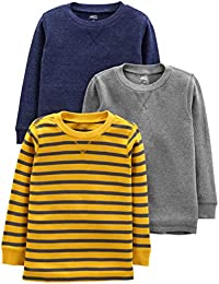 Toddler Boys' 3-Pack Thermal Long Sleeve Shirts