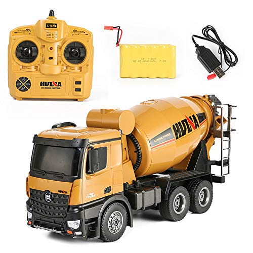 (SXPC RC Truck 10 Channel 2.4G Remote Control Concrete Mixer Truck Transport Vehicle Model car Toy )