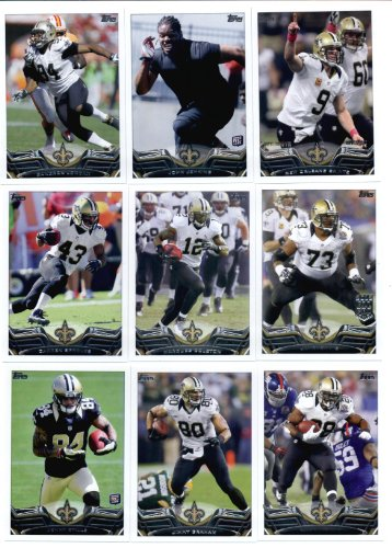 2013 Topps NFL Football Team Set (SEALED) - New Orleans Saints 15 Cards New Orleans Saints John Jenkins Cameron Jordan Jahri Evans Darren Sproles Marques Colston Kenny Vaccaro Mark Ingram Jimmy Graham Curtis Lofton Kenny Stills Lance Moore Drew Brees Malcolm Jenkins
