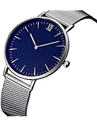 Womens Quartz Watches,Hotkey Unique Analog Fashion Classic Clearance Geneva Stainless Steel Lady Watches Female Watches on Sale Watches for Women,Round Dial Case C80 (Silver)