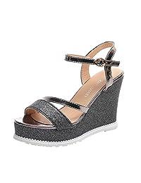 Kingfansion Women Wedges Summer Sandals Platform High-Heeled