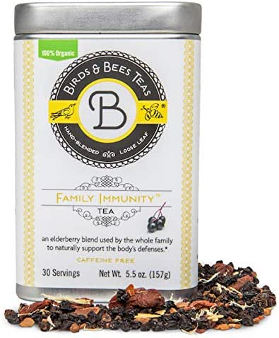Elderberry Tea - Family Immunity - Birds & Bees Teas - Promotes a Stronger Immune System with Organic Herbs! Makes A Delicious Sambucus Elderberry Syrup - Great for Families - 30 Servings, 5.5 oz