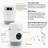 Baby monitor, Babelens 1080P HD Wi-Fi Wireless/Wired Home Security IP Camera with night vision, Light, microphone Two way intercom, play lullaby or music, free app for iPhone, iPad, Android, PC, Mac