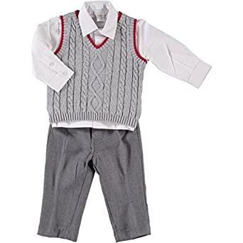 Kids 1950s Clothing & Costumes: Girls, Boys, Toddlers Boys 3 Piece Elegant Vest Set $60.00 AT vintagedancer.com