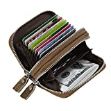 Women's RFID Blocking Credit Card holder Leather Compact Accordion Wallet,bronze