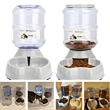 Blessed family Cat Water Fountain,Automatic Cat Feeder,Dog Water Dispenser,1 Gal Pet Automatic Feeder Waterer (Pet Self Waterers+Feeder) Review