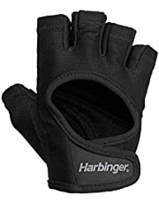 Harbinger Women's Power Weightlifting Gloves with StretchBack Mesh and Leather Palm (1 Pair)