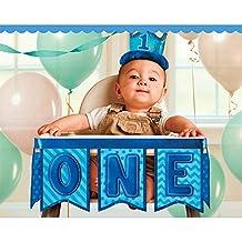 "1st Birthday Blue 37"" High Chair Decoration (Each)"