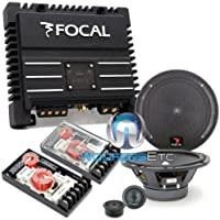 pkg 165A1 - Focal 6.5 120 Watts 2-Way Component Speakers System + SOLID2 Black - FOCAL 2-Channel 200W RMS Power Amplifier