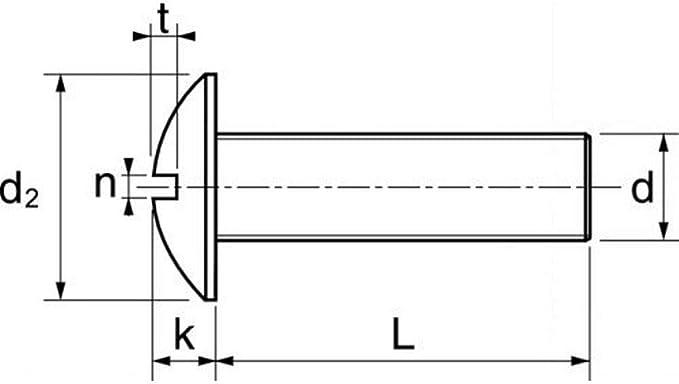 Schlitz Edelstahl A2 6x60 M6 NFE25129 Metrische 100X Becherschrauben m