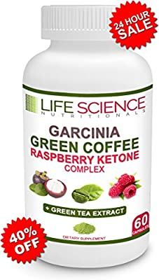 The Original 4-in-1 Garcinia Cambogia, Green Coffee Bean, Raspberry Ketones & Green Tea Extract 1300mg Dr. Oz Recommended For Fat Burn, Weight Loss & Appetite Suppressant