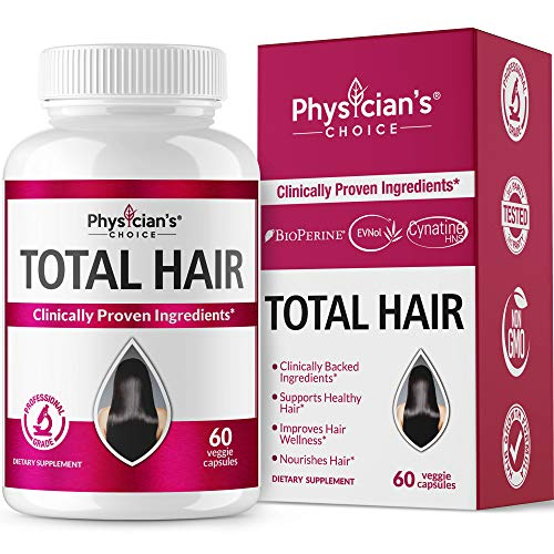 Hair Growth Vitamins (Clinically Proven Ingredients) Award Winning Keratin, Biotin and More, Proven Hair Vitamins for Faster Healthier Hair Growth - Hair Loss & Thinning Supplement for Women & Men (Best Hair Growth Formula)
