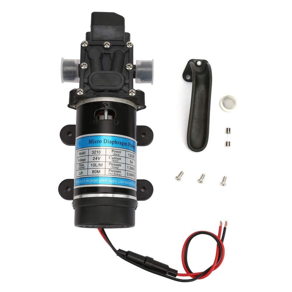 Bomba de diafragma, bomba autocebante de la bomba de agua eléctrica de 12V / 24V 120W para lavadora de alta presión utilizada en rociado de agua(24V 3210YD-24-120FS)