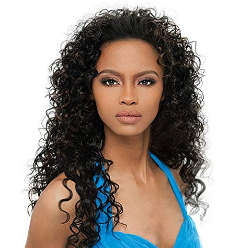 OUTRE Synthetic Hair Half Wig Quick Weave Amber 1b ()