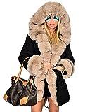 Roiii Women's Warm Winter Coat Thicken Hoodies Jacket Parka Overcoat Outerwea.