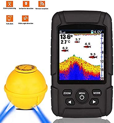 Amazon.com: SISHUINIANHUA Wireless Fish Finder Portable USB Charging Waterproof Color Screen Intelligent Sonar Fish Detector: Home & Kitchen