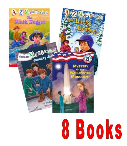 Ron Roy Series Mix: Az Mysteries the School Skeleton ; the Canary Caper ; the Empty Envelope; the Lucky Lottery (A To Z Mysteries)