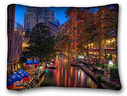 TysoOLDPhoneC Pillowcases Covers Pillows Cases Bedding Cafe Home Decor Custom Standard Size Decoration - City San Antonio Texas 20