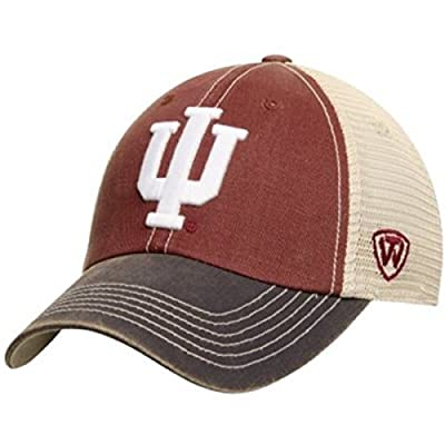 Indiana Hoosiers Top of the World Red Black Offroad Adj Snapback Hat Cap from Top of the World