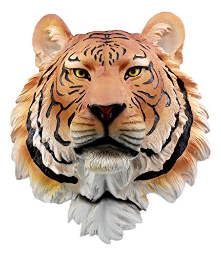 Ebros Gift Large Orange Bengal Tiger Head Wall Decor Plaque 16