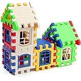 Fusino 24Pcs Children Puzzle Inserted Plastic Building Blocks Assembled Blocks for Kindergarten Kids Preschool Toys