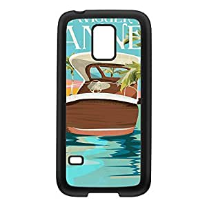 Cannes Black Silicon Rubber Case for Galaxy S5 Mini by Nick Greenaway + FREE Crystal Clear Screen Protector