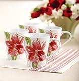Paula Deen Dinnerware 4-Piece Mug Set, Amaryllis