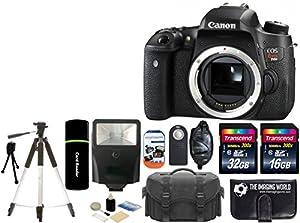 Canon EOS Rebel T6s 24.2MP CMOS Digital SLR Camera Body USA Warranty with Full HD Video + Case + Tripod + Flash + 48GB Accessories Bundle