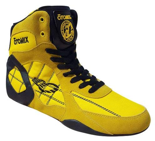 OTOMIX Ninja Warrior Fitness Bodybuilding MMA Schuh Turnschuhe High Tops - Gelb/Gelb - EU 45