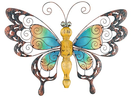 (Regal Art & Gift Country Wood Butterfly Standing Art, Yellow)