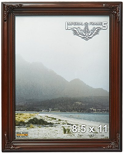 MyFrameStore No.623 Solid Wood Picture Photo/Diploma/Poster Frame, 8.5 by 11-Inch, Dark Walnut