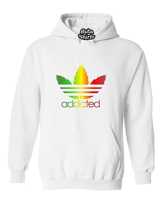 ShirtStarZone Addicted Rasta Parody Marijuana Weed Smokers