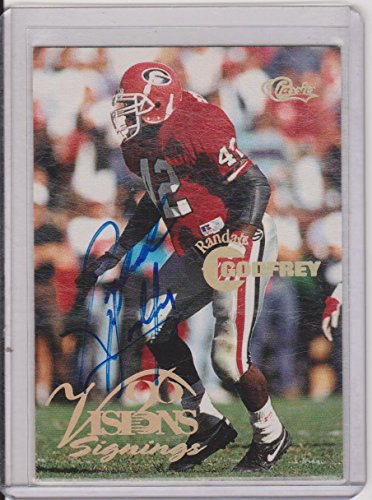 - 1996 Classic Visions Signings Randall Godfrey Bulldogs Autographed Insert Football Card #NNO