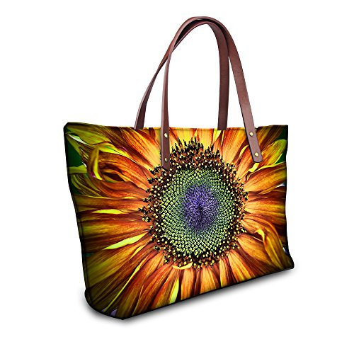 sunflower Handbag Fashion Vintage Floral FOR Tote U Casual 1 Bags Print Rose DESIGNS Women Waterproof 6vqwAxg