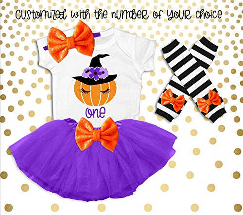 Baby Girl's 1st Birthday Outfit Halloween Birthday Outfit Pumpkin Birthday Outfit Fall Birthday Outfit Pumpkin Patch Party Outfit -