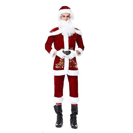 eb0d5fcdbf Amazon.com: 8Pcs Christmas Xmas Santa Claus Outfit Set - Mens Tops+ ...