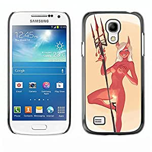 Paccase / SLIM PC / Aliminium Casa Carcasa Funda Case Cover - Devil Angel Woman Horns Nude Fire Sexy - Samsung Galaxy S4 Mini i9190 MINI VERSION!