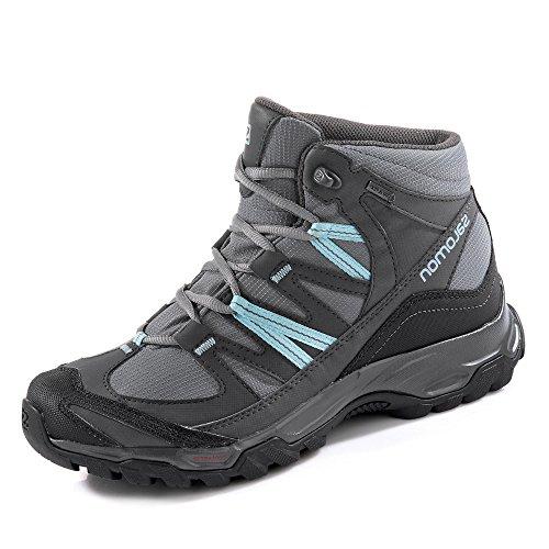 Salomon - Zapatillas de senderismo para mujer QUIET SHADE/MAGNET/ARUBA BLUE QUIET SHADE/MAGNET/ARUBA BLUE