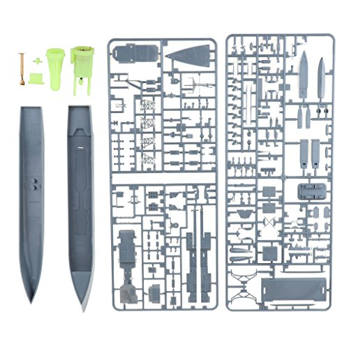 D DOLITY 1x USS Spruance Destroyer Boat Model Toy Unassemble DIY for Home Table Decor ()