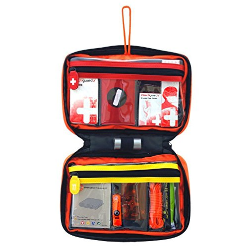 Small First Aid Kit, Relief Pod Orange Emergency Bag Safety Home Kit, 32pc by By-Relief Pod (Image #2)