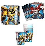 Transformers Birthday Party Supplies Set Plates Napkins Cups Kit for 16 by Designware