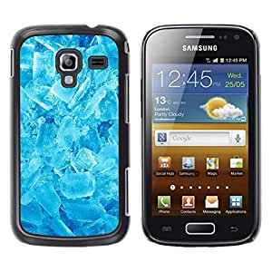 Be Good Phone Accessory // Dura Cáscara cubierta Protectora Caso Carcasa Funda de Protección para Samsung Galaxy Ace 2 I8160 Ace II X S7560M // Winter Cool Ice Crystals Refreshing Sn